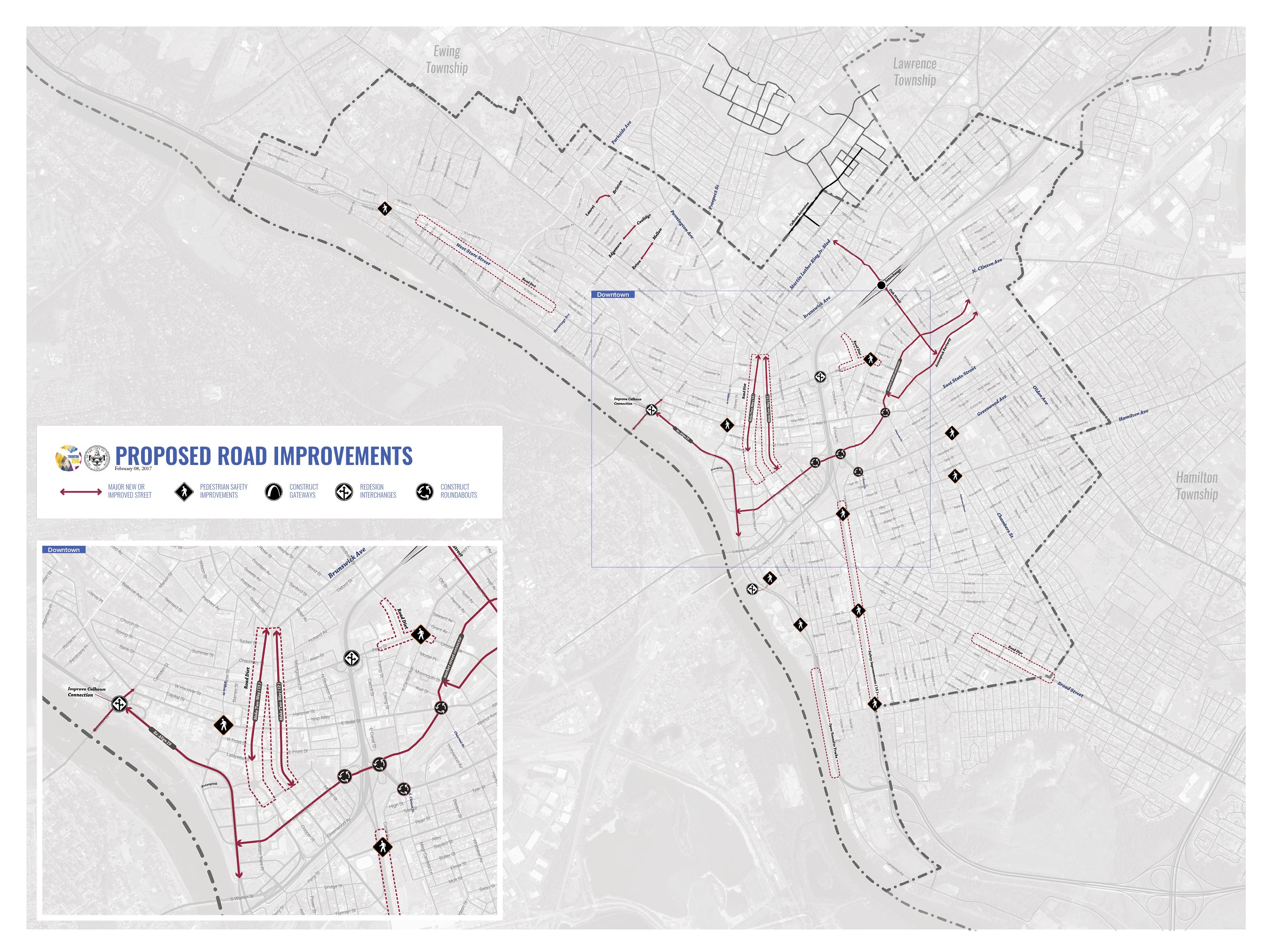 Trenton 250 Road Improvements Map